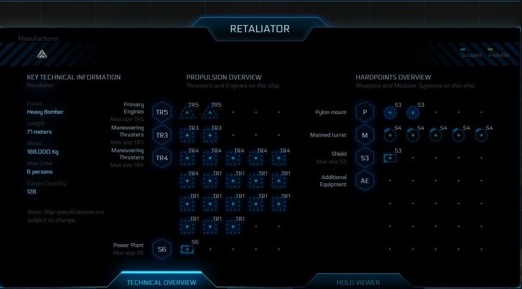 Aegis Dynamics Retaliator / Technische Übersicht / technical overview