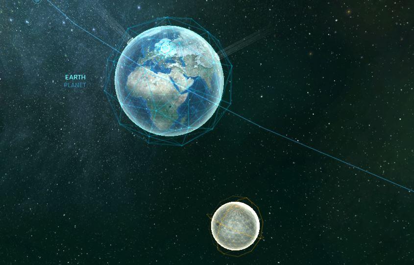 Erde mit Monde
