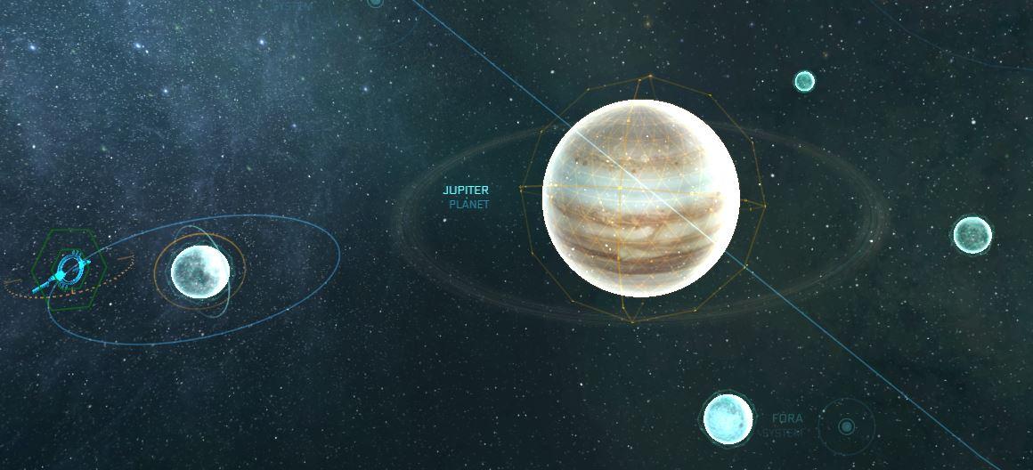 Jupiter mit allen Monden