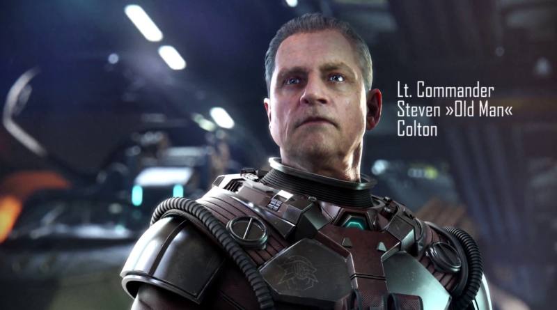 "Lt. Commander Steven ""Old Man"" Colton / Mark Hamill"