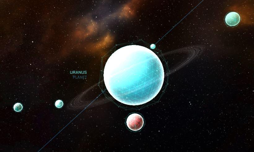 Uranus mit allen Monden