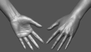 Female Avatar Hand