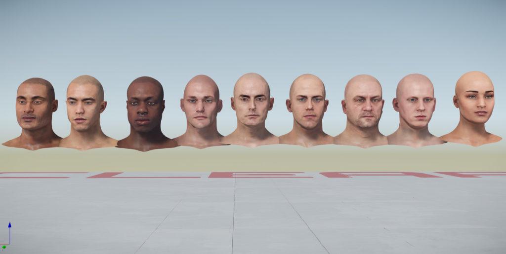 NPC Heads / Köpfe