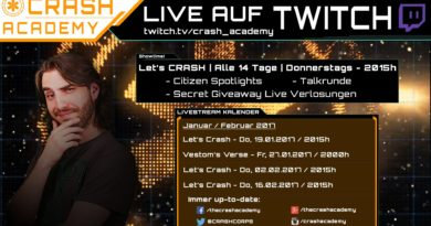 Star Citizen Livestream: Let's CRASH | Heute | 20:15h