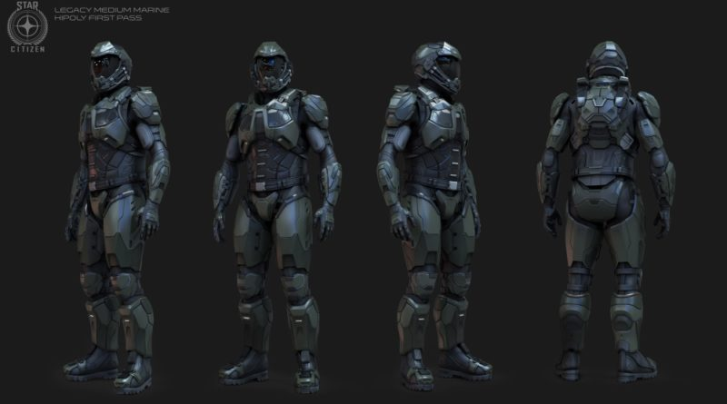 Legacy Medium Marine Armor - HiPoly Pass
