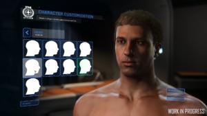 Star Citizen Charaktereditor Kopfformen