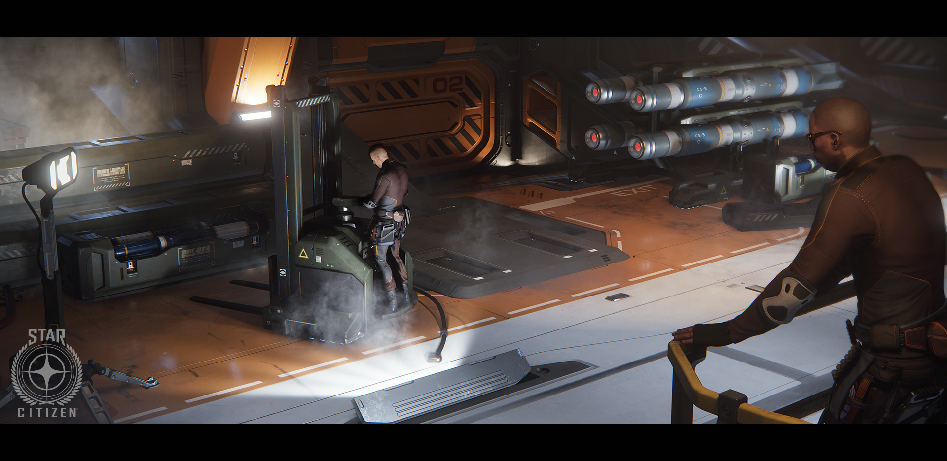 StarCitizenBase UEE Military Hangar Props