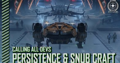 Calling All Devs – Persistence, Snub Craft and Landing Systems