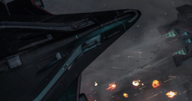 CRUS Starlifter Promo Gunship Bombing MO02 Squashed