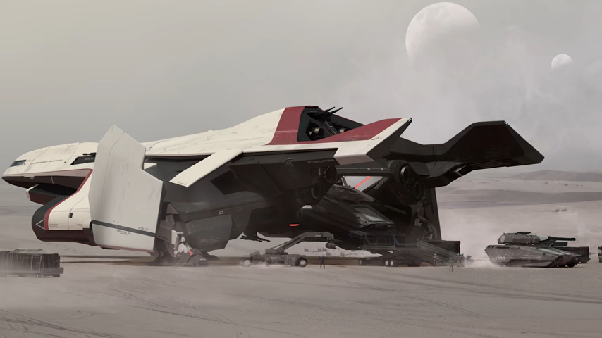 StarCitizenBase ShipShape Concept Hercules Starlifter Action3
