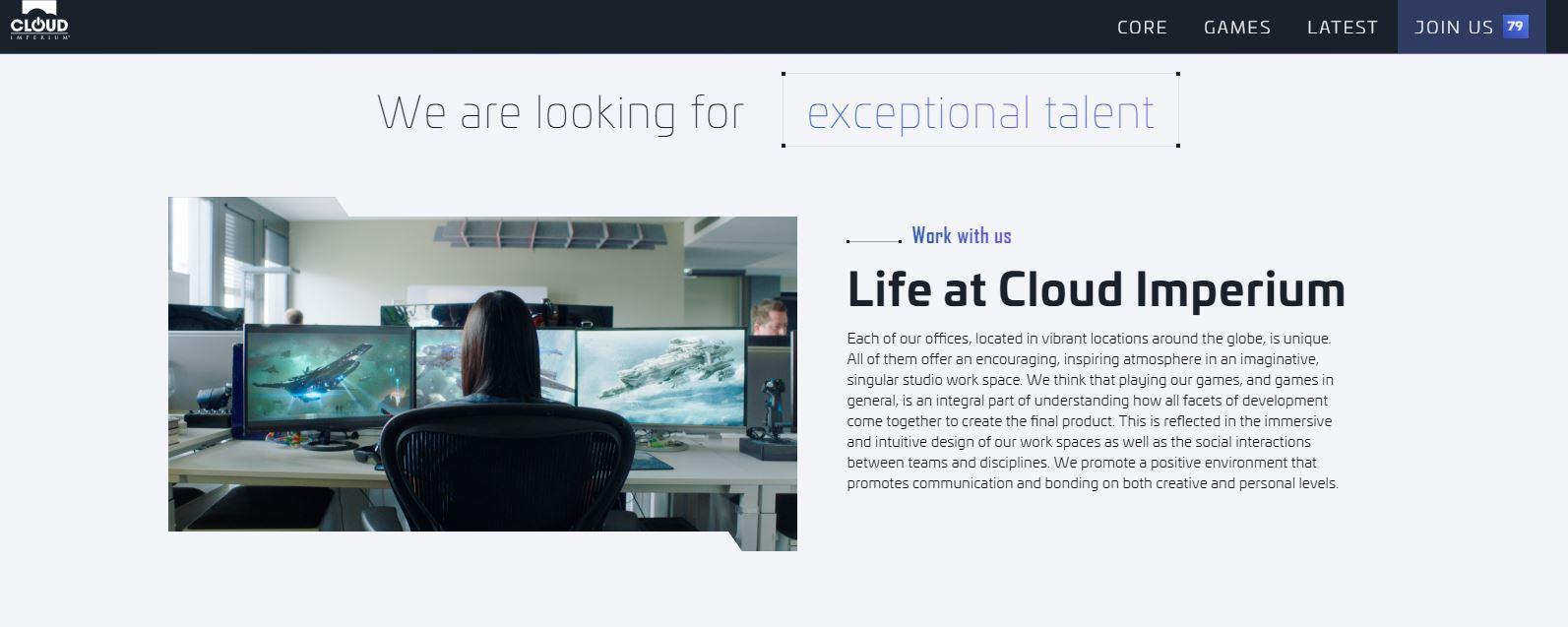 CloudImperiumGames CorporateWebsite