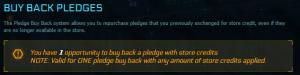 Buy Back Pledges
