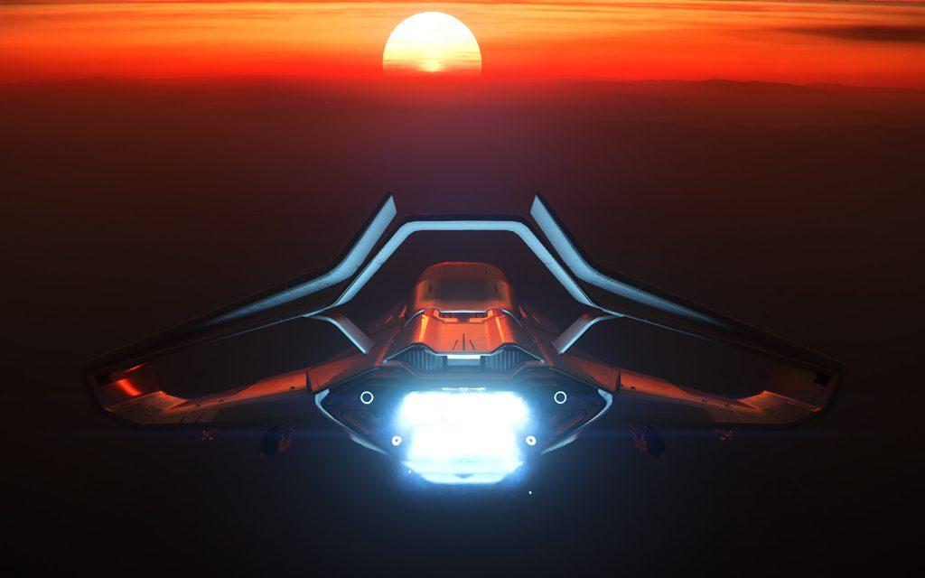 Origin Sunset Flight 5954